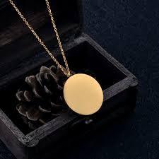 Custom Necklace Pendants Ijd0318 High Polish Round Blank Personalized Necklace U0026pendant