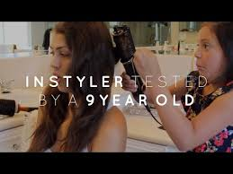 hair style for a nine ye my hair after the instyler youtube