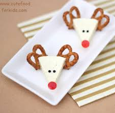 cute food for kids christmas appetizer idea cheese reindeers