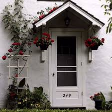 Building Awning Over Door Front Entries Perfect Place Plants And Doors