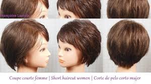 coupe courte femme frange short haircut for women bangs