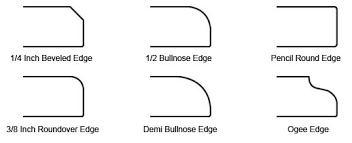 countertop edge granite versus laminate countertops granite edge styles
