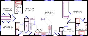 simple one story open floor plan rectangular google search