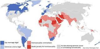 World Crime Rate Map by A Map Of The Countries Where Homosexuality Is Criminalized The