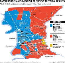 Map Of Baton Rouge Red Stick Or Blue Stick East Baton Rouge Now A Democratic Leaning