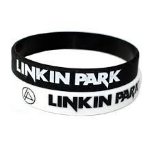 silicone bracelet black images Hot sale linkin park band silicone wristband black white color jpg