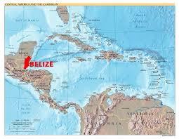 Map Of Coral Reefs Maps Of Belize Detailed Maps Of Belize And Central America
