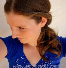 barrel curl ponytaol simple hairstyles side curls ponytail a mom s take