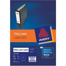 4 Per Sheet Label Template by Avery Lever Arch File Labels L7171 4 Per Sheet Officemax Nz