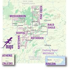 State Map Of Pennsylvania by Raystown Lizard Map Purple Lizard Maps