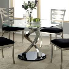 Dining Table Modern Round Modern Glass Dining Room Tables Interior Design