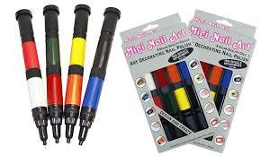 buy 1 get 1 free migi nail art 8 pack of nail art pens groupon