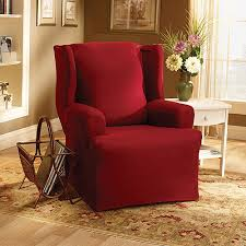 club chair covers sure fit cotton duck wing chair slipcover walmart