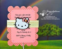 Hello Kitty Birthday Invitation Card Jingvitations Hello Kitty Baby Shower Baptism Birthday Invitations