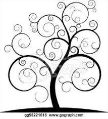 swirly tree nature vector 28654 free vector