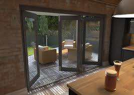 Pvc Folding Patio Doors by Timber Aluminium Or Pvc Bifold Doors Aspire Doors