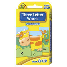 words cards school zone flash cards 3 letter words officeworks