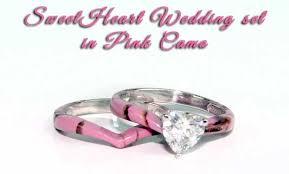camo wedding sets camo wedding ring sets for camo sweet heart wedding set idea