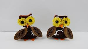 table decoration owls diy papercraft quilling deco owl halloween