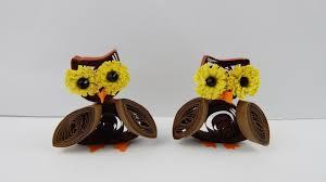 Halloween Owls Table Decoration Owls Diy Papercraft Quilling Deco Owl Halloween