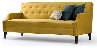 Yellow Sofa Bed Trend Alert The Modern Chesterfield Sofa