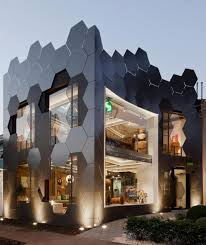 honeycomb home design honeycomb inspired the hexagonal shape on the facade of an