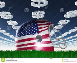 Flag Football Play Designer American Flag Football Helmet On Grass Stock Illustration Image