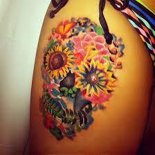 beautiful arm designs skeleton flowers skeleton