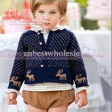 Sweaters For Toddler Boy Baby Boys Navy Spot Polka Dots Deer Pattern Cardigan Kids Boy