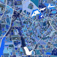 map of copenhagen copenhagen map print denmark maps as