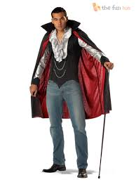 mens gothic vampire halloween fancy dress count dracula