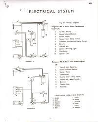 wiring diagram for a massy ferguson 35 gasoline starting diagram