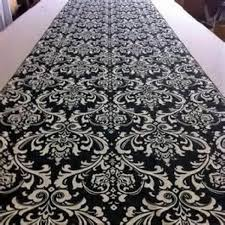 black aisle runner special of the week black and white damask aisle runner 2250669
