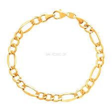 gold plated bracelet chain images Raf rossi gold plated figaro 6mm 18k gold plated chain jpg