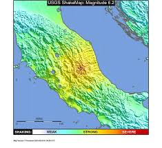 us geological earthquake map magnitude 6 2 earthquake in central italy