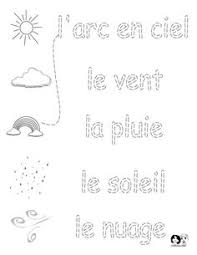 french parts of the body printable the face worksheet with word