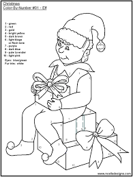 coloring pages christmas color number worksheets 101