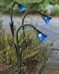 Outdoor Solar Landscape Lights Solar Bluebells Solar Garden Lights Buy From Gardener S Supply