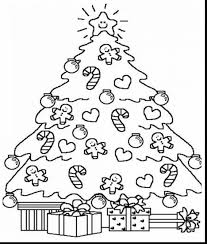 marvelous hello kitty christmas coloring pages with christmas tree