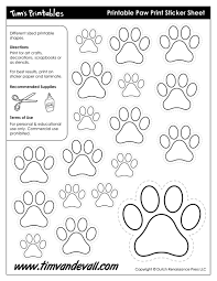 paw print sheets paw print template shapes blank printable shapes