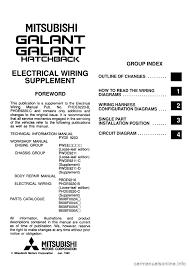 mitsubishi galant 1996 7 g electrical wiring diagram workshop manual