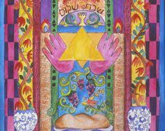 shabbat shalom by joani rothenberg illustration from the shabbat