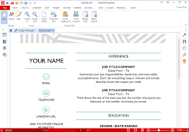 Resume Word Or Pdf Best Pdf Software For College Students