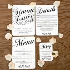 Wedding Invitations With Menu Cards Ideas About Wedding Menu Wording Love Quotes 101