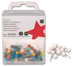 Map Tacks 5 Star Map Pins 5mm Head Assorted Pack Of 100 Amazon Co Uk