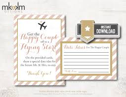 date night idea cards travel shower theme couples shower