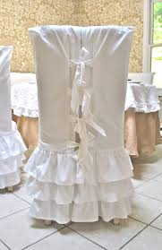 ruffled chair covers white ruffle chair slipcovers 90 00 via etsy for the home