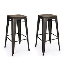 30 Inch Bar Stool With Back Kitchen Industrial Metal Bar Stools With Backs Silver Stool