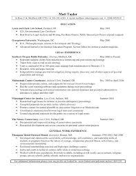 Resume For Law Clerk Matt Taylor Resume
