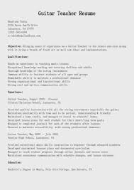 Piano Teacher Resume Sample by Resume Samples Guitar Teacher Resume Sample